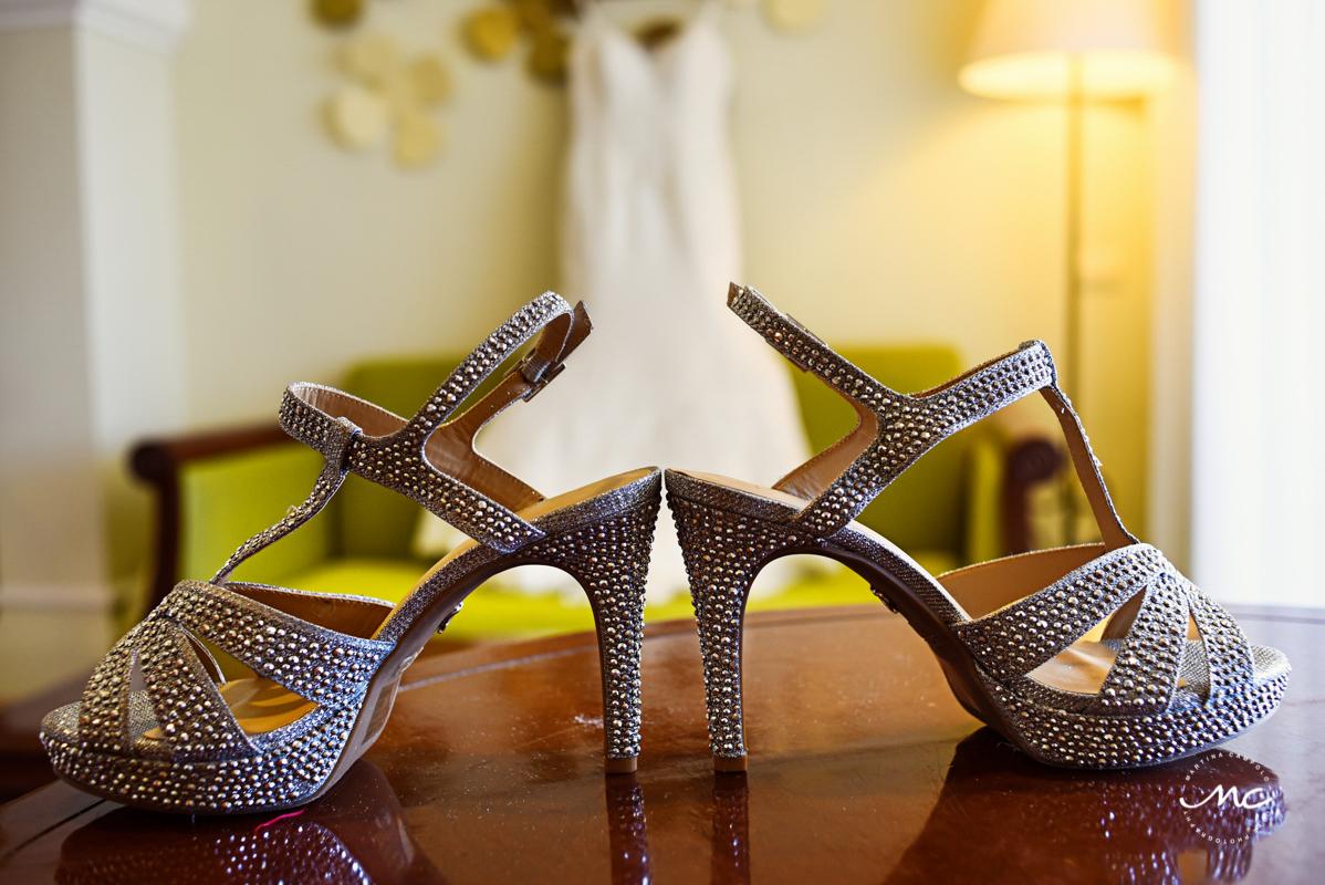 Bridal heels at Now Sapphire Riviera Cancun, Mexico. Martina Campolo Photography