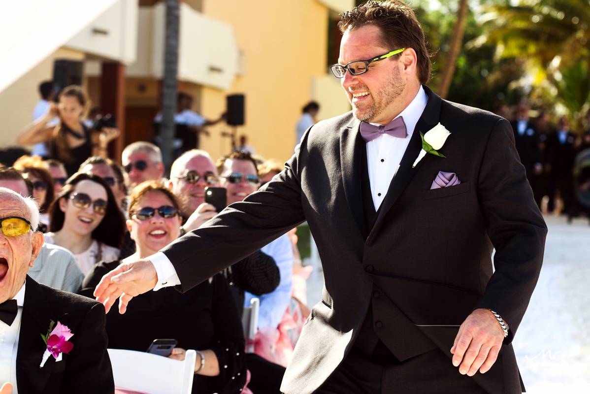 Groom entrance. Now Sapphire Riviera Cancun wedding by Martina Campolo Photography