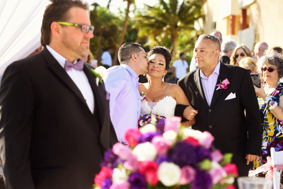 Here comes the bride. Now Sapphire Riviera Cancun wedding by Martina Campolo Photography