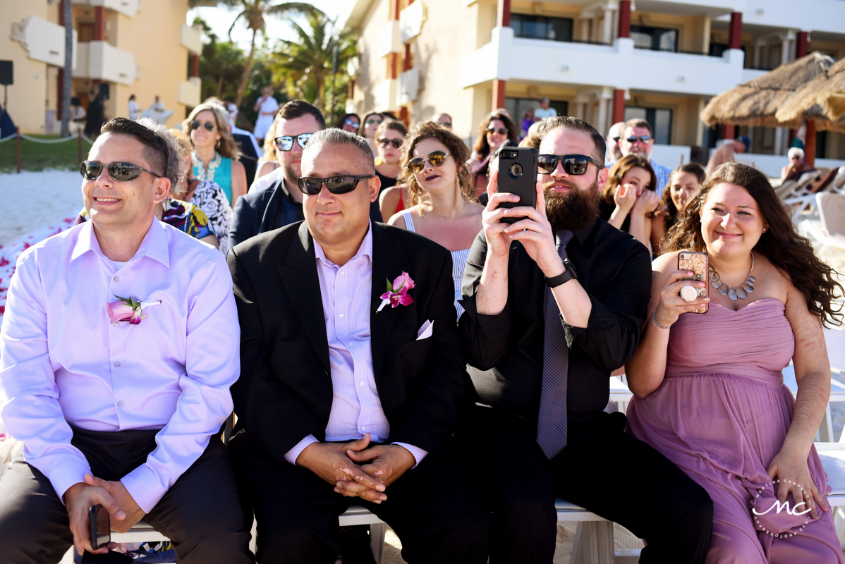 Wedding guests at Now Sapphire Riviera Cancun, Mexico. Martina Campolo Photography