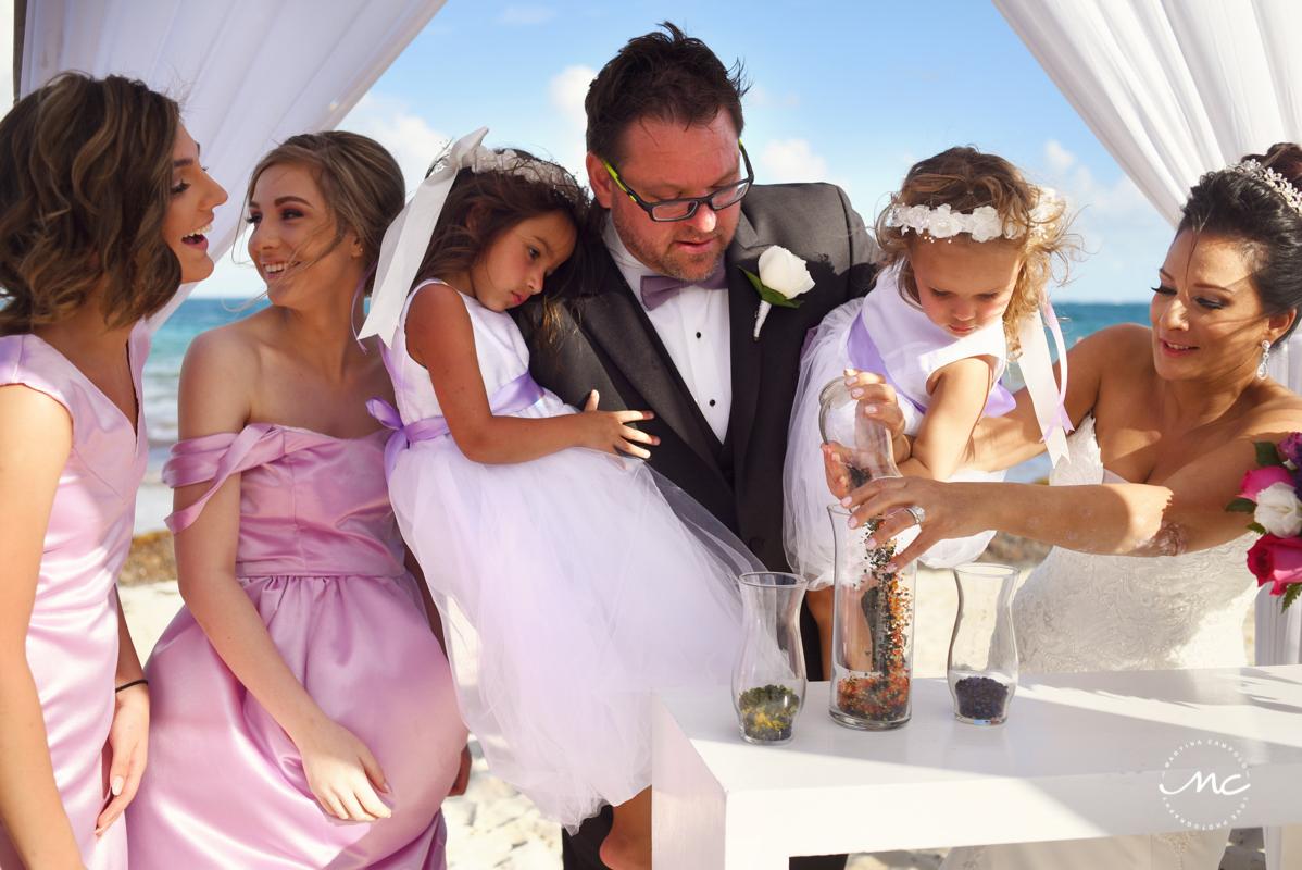 Now Sapphire beach wedding, Riviera Maya, Mexico. Martina Campolo Photography