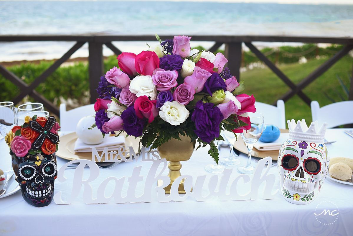 Mexican themed wedding reception at Now Sapphire Riviera Cancun, Mexico. Martina Campolo Photography