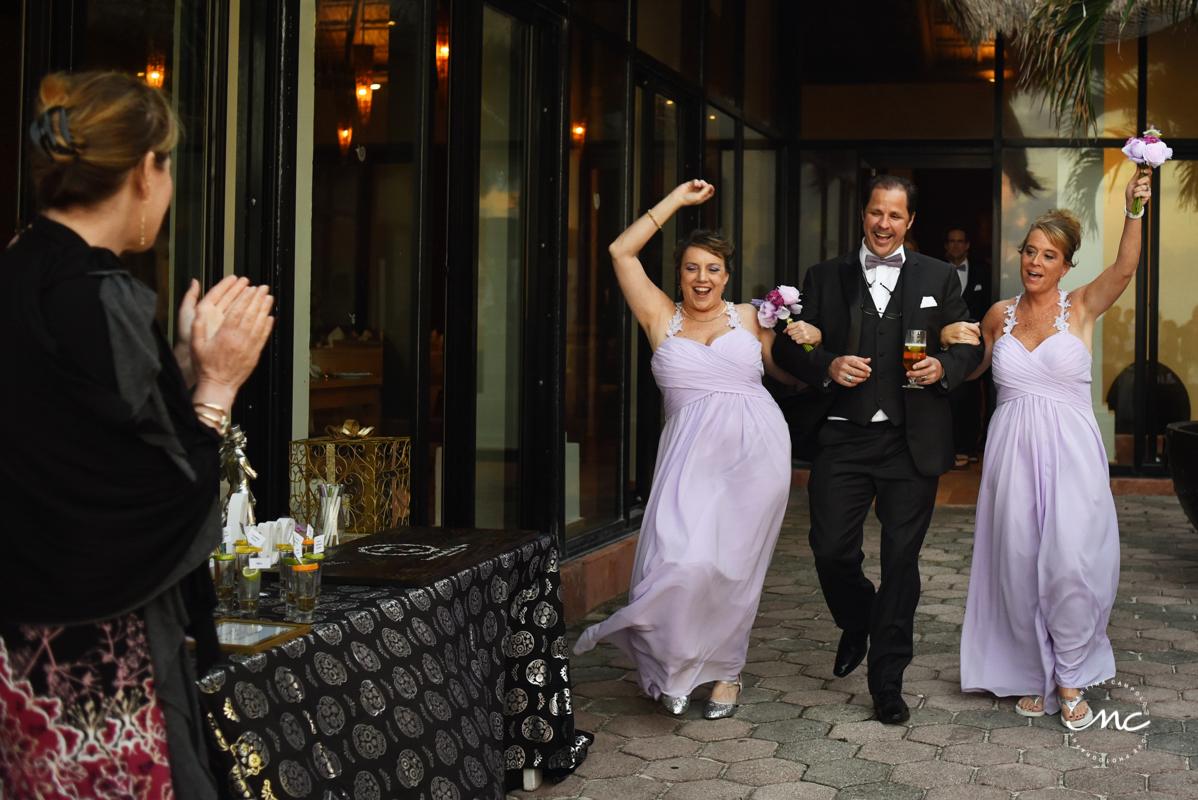 Wedding reception entrance at Now Sapphire Riviera Cancun, Mexico. Martina Campolo Photography