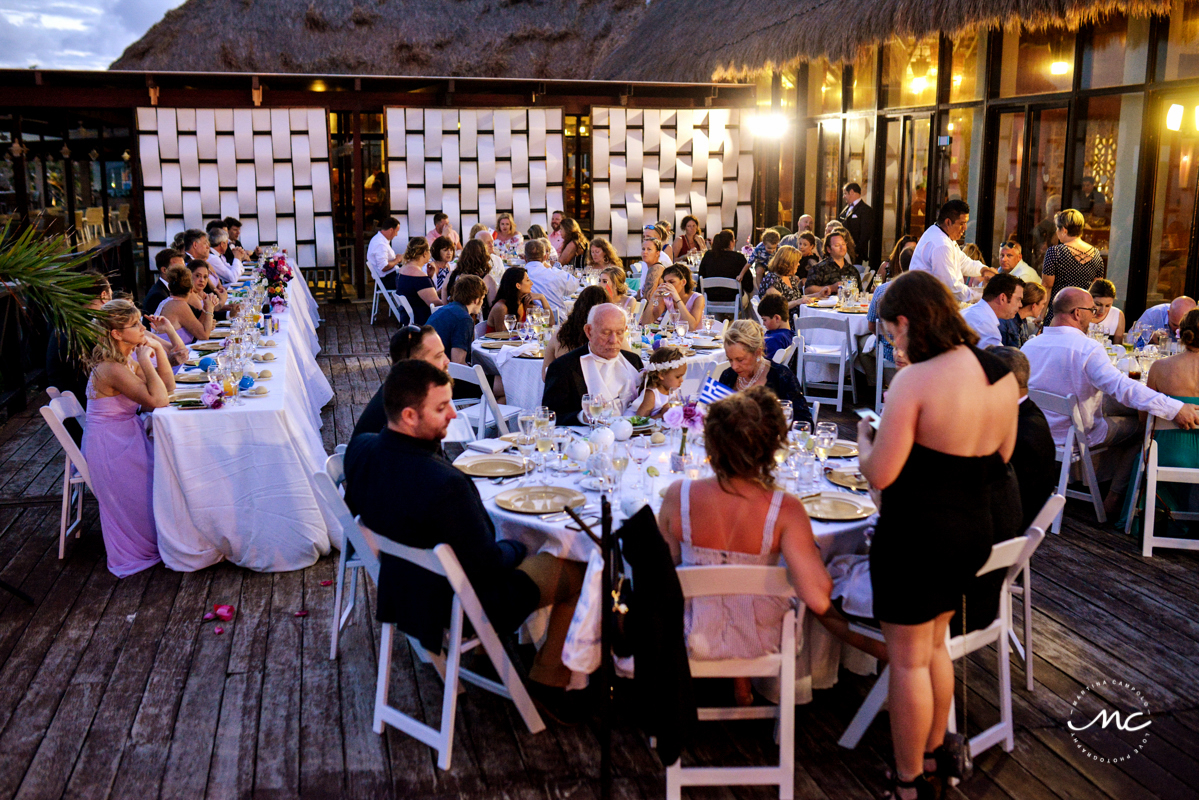 Wedding reception at Tequila Terrace, Now Sapphire, Mexico. Martina Campolo Photography