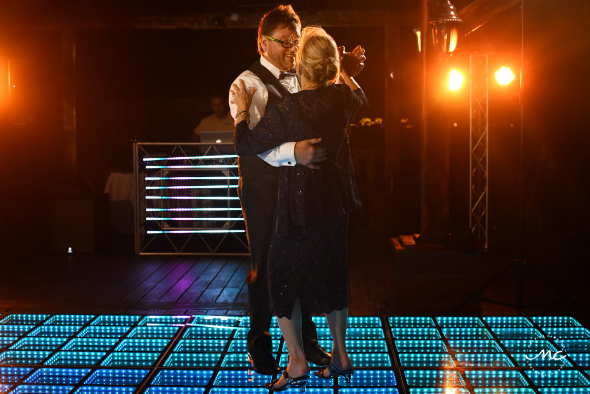 Mother of the groom and son dance at Now Sapphire Riviera Cancun. Martina Campolo Photography