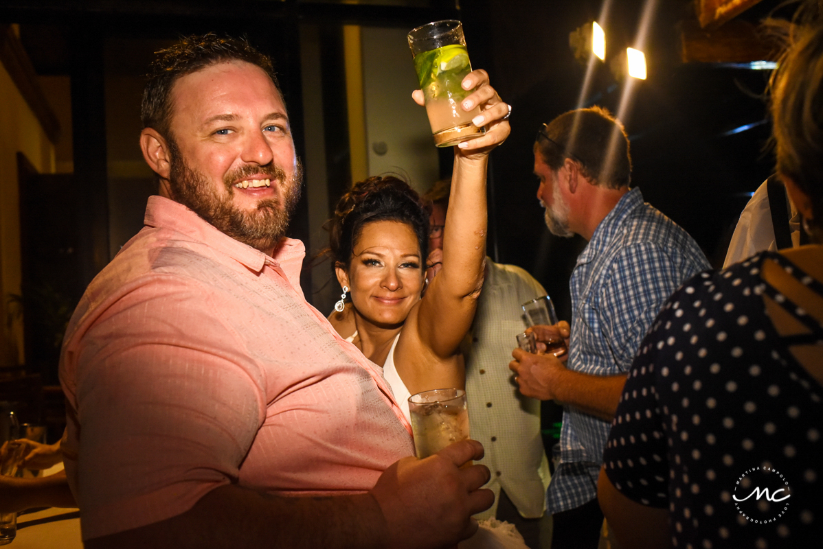 Happy bride at Now Sapphire Riviera Cancun wedding by Martina Campolo Photography