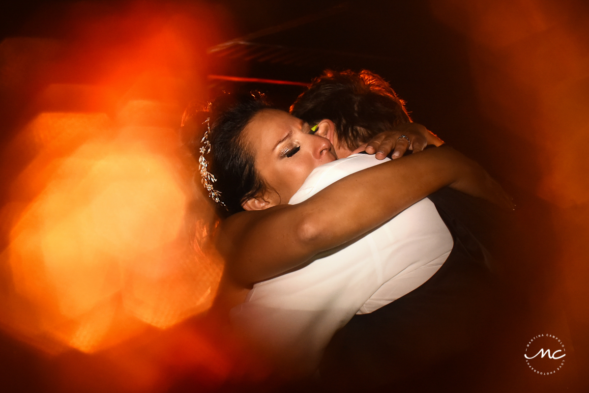 Bride and groom first dance shot at Now Sapphire Riviera Cancun wedding by Martina Campolo Photography