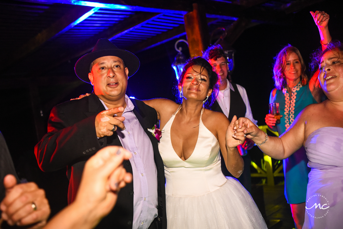 Now Sapphire Riviera Cancun wedding reception by Martina Campolo Photography