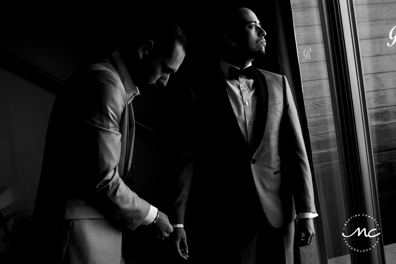 Getting Ready, Royalton Riviera Cancun LGBTQ Wedding. Martina Campolo Photography