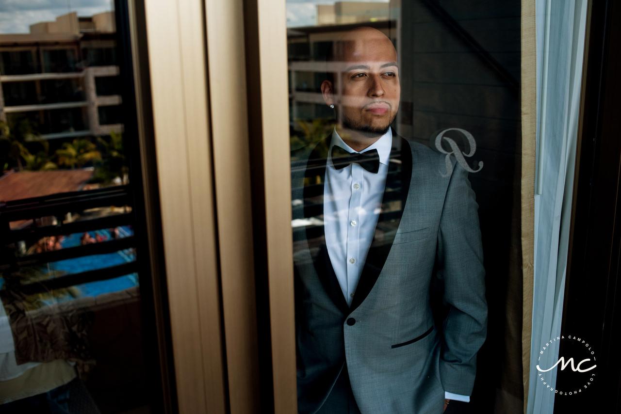 Groom ready. Royalton Riviera Cancun Gay Wedding in Mexico. Martina Campolo Photography