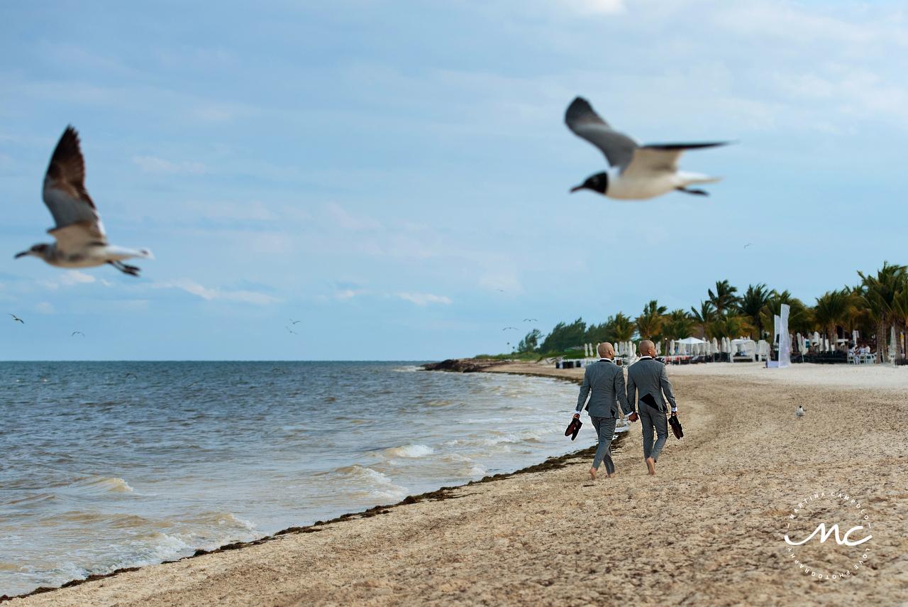 Gay Beach Destination Wedding at Royalton Riviera Cancun, Mexico. Martina Campolo Photography
