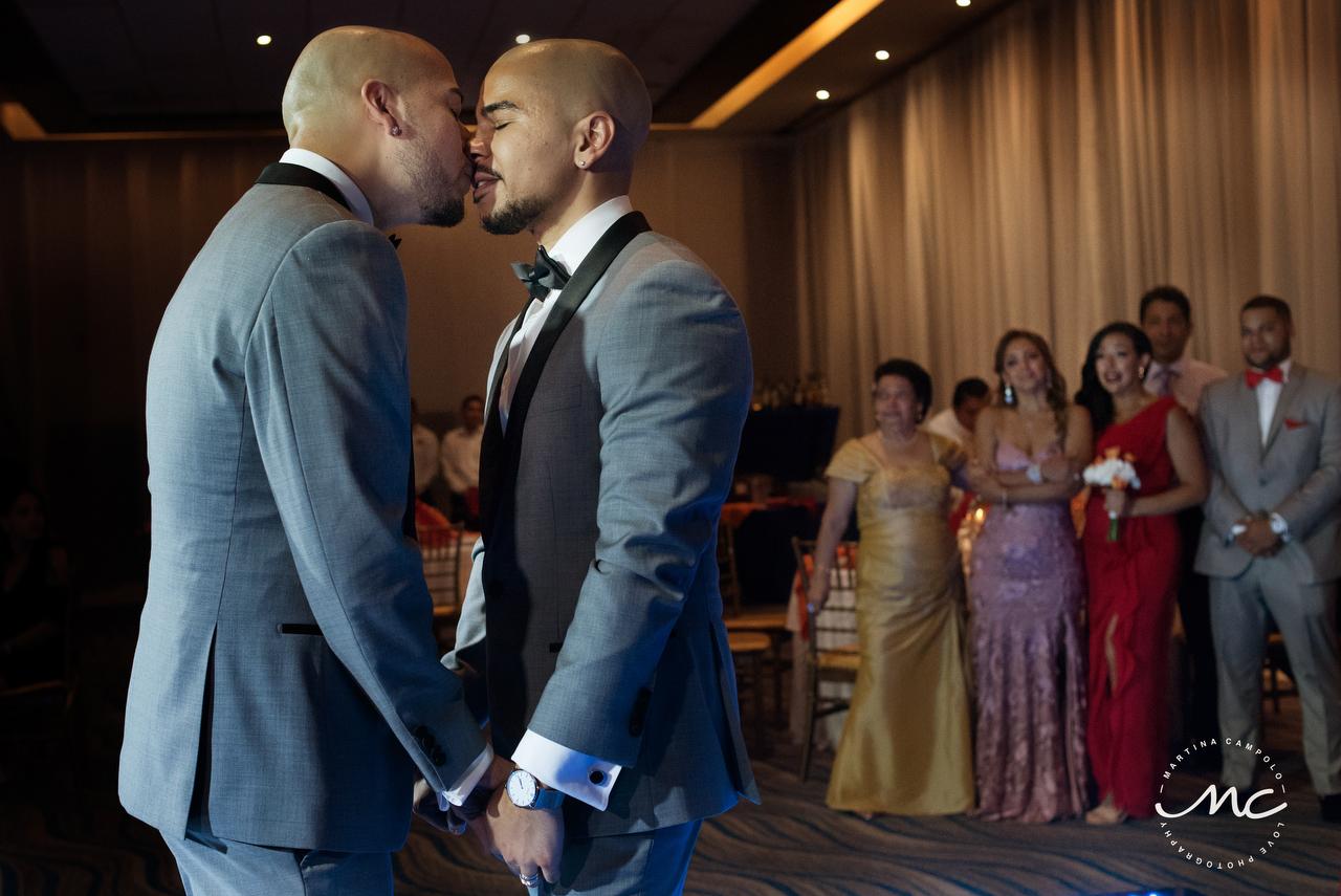 First Dance, Royalton Riviera Cancun Same Sex Wedding. Martina Campolo Photography