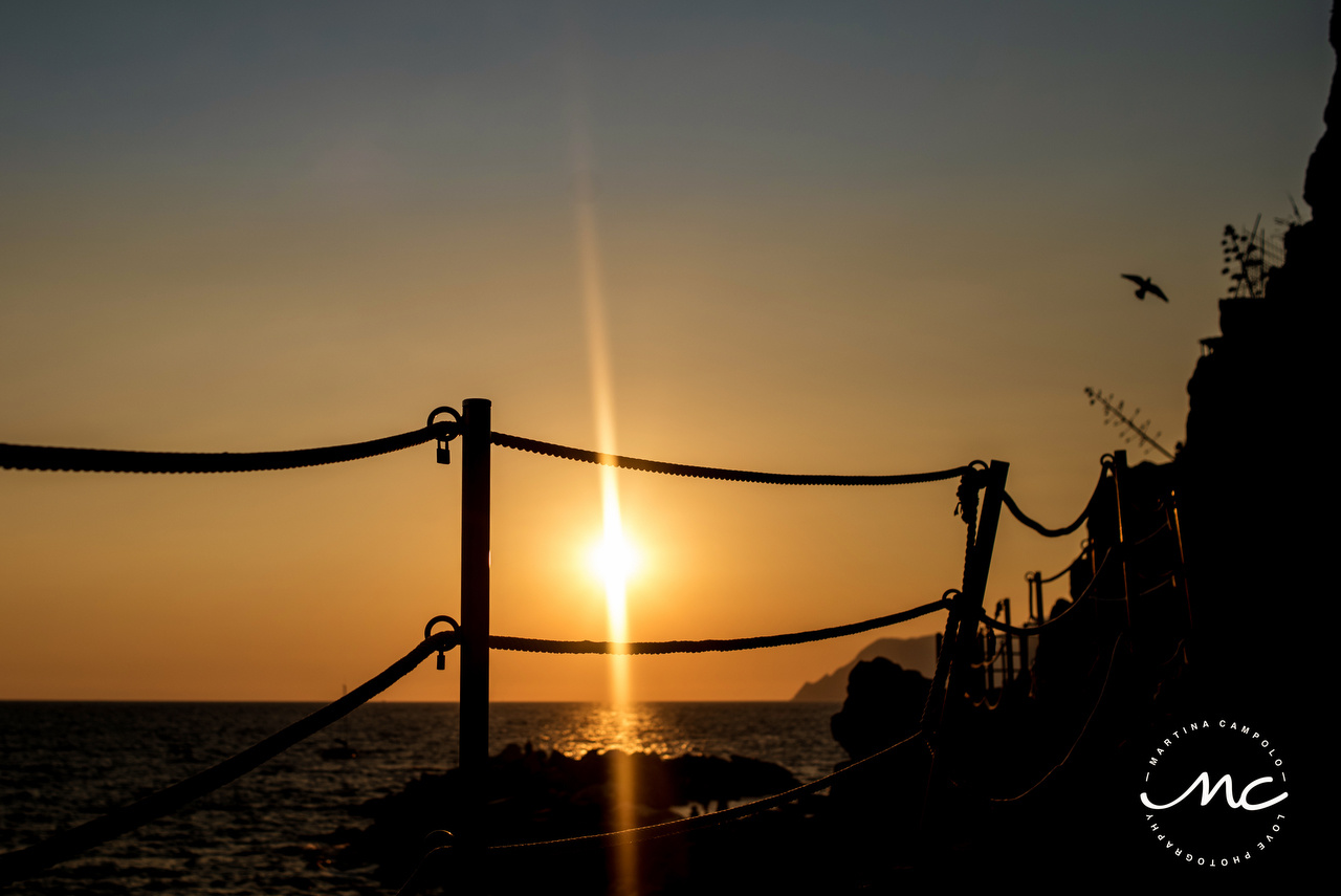 Cinque Terre Sunsets. Martina Campolo Italian Wedding Photographer