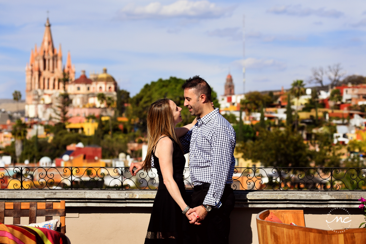 Rosewood San Miguel de Allende Engagement Session. Martina Campolo Photography