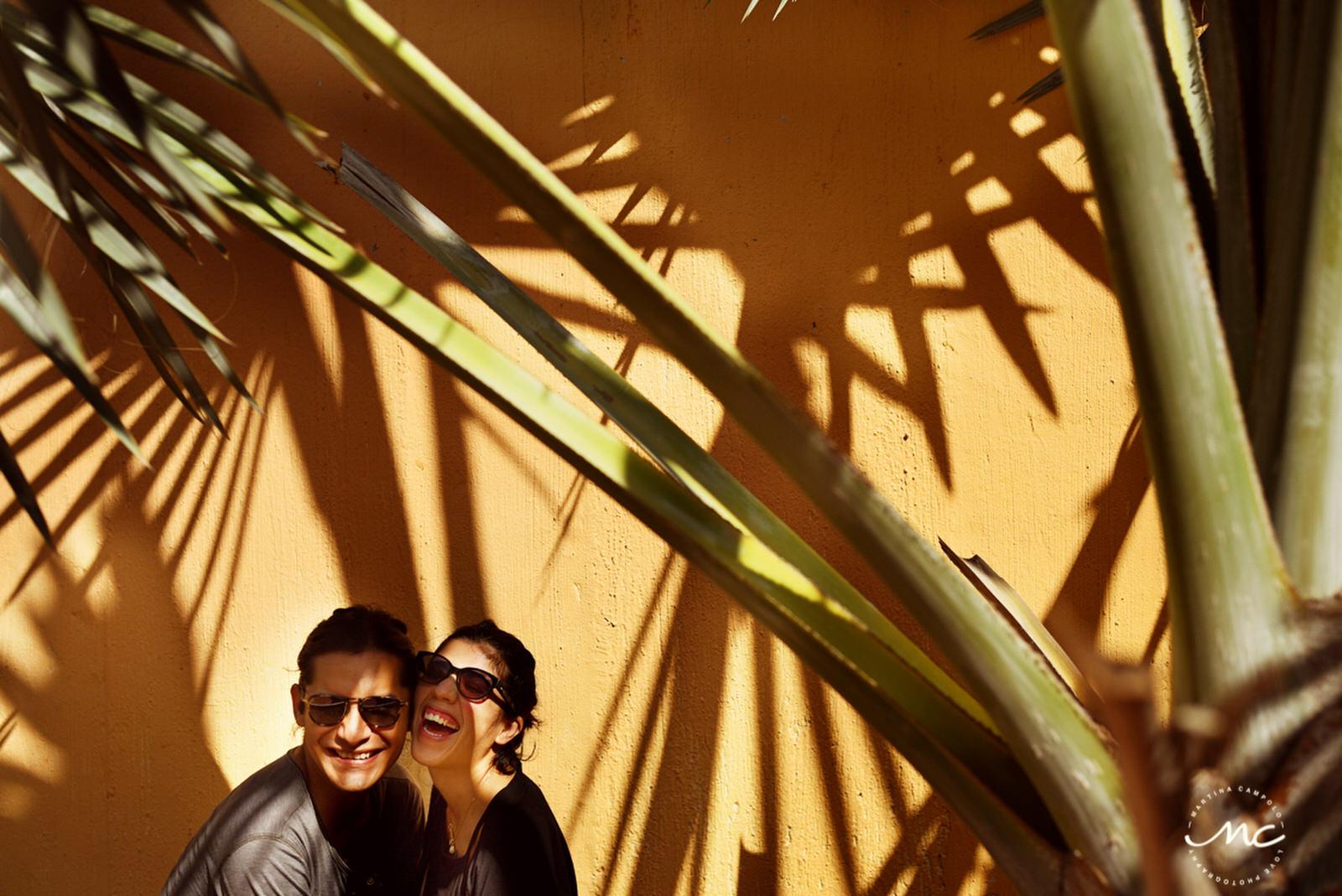 Couple dance in front of colonial church in Merida, Yucatan, Mexico. Martina Campolo Photography