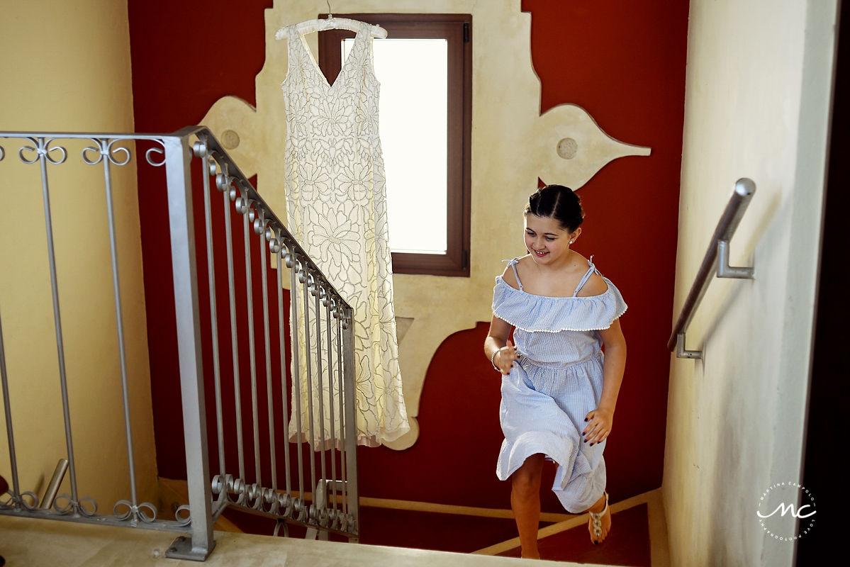 Savannah Miller wedding dress at Hacienda del Mar, Riviera Maya, Mexico. Martina Campolo Photography