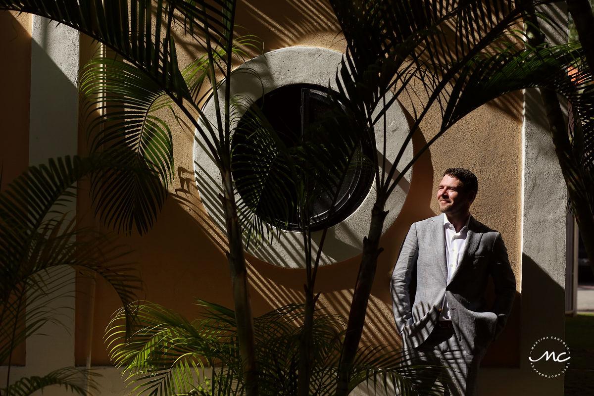Destination groom portraits in natural light at Hacienda del Mar, Mexico. Martina Campolo Photography