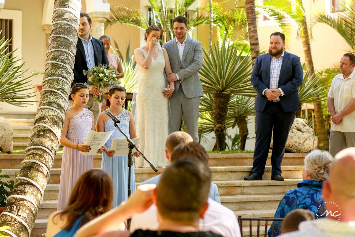 Emotional bride at Hacienda del Mar destination wedding in Mexico by Martina Campolo Photography